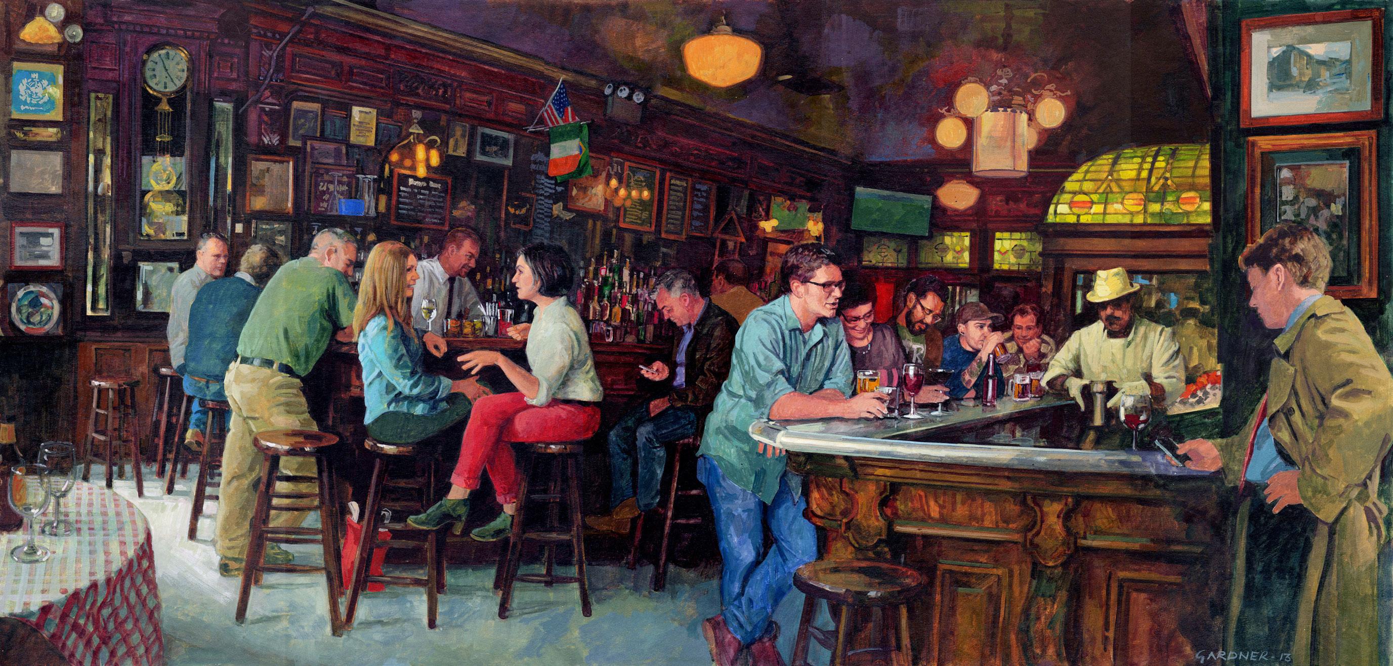 Famous Bar Scene Painting